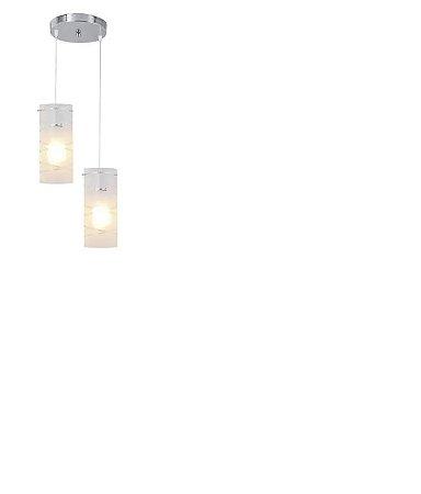 Pendente First Gelo E27 2 Lampadas Bronzearte