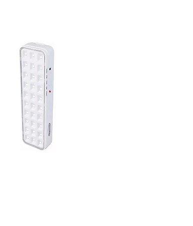 Luminária de Emergência 30 leds  alça Botão Bat Lítio Lexman