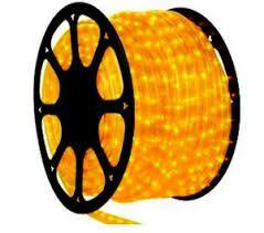 Mangueira de Led 5 metros 150 LEDs Amarelo Bronzearte