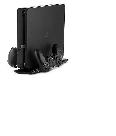 Base Suporte Vertical c/ Cooler USB Carregador p/2 Controles