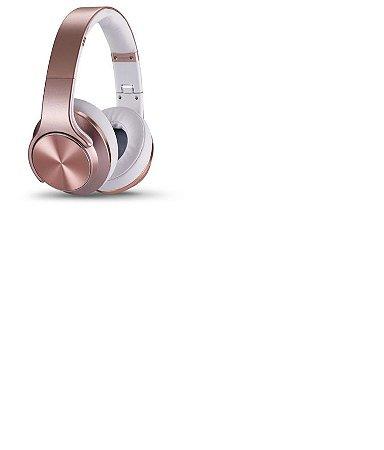 Fone De Ouvido Feir Fr-504 2 Em 1caixa- Bluetooth Fm Rose