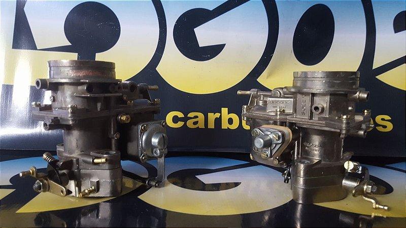 Carburador Duplo Solex H 40/44 Eis Original Álcool (Par)