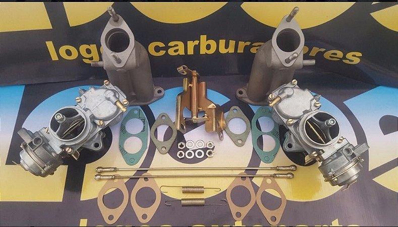 KIT PARA FUSCA DUPLA CARBURAÇÃO ORIGINAL SOLEX H32 GASOLINA