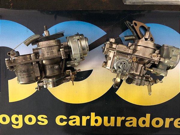 Carburador (Par) Fusca Itamar a Álcool Original Solex