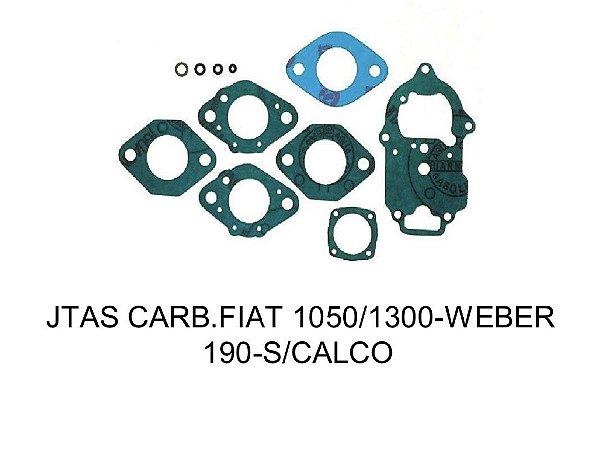 JUNTAS CARBURADOR FIAT 1050/1300 - WEBER 190 - S/ CALÇO