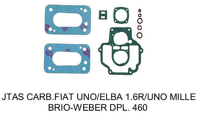 JUNTAS CARBURADOR FIAT UNO/ELBA/UNO MILLE BRIO 460 WEBER