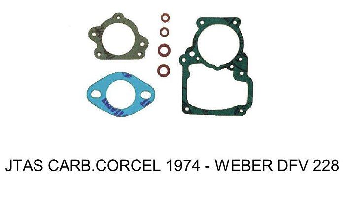 JUNTAS CARBURADOR WEBER DFV 228 CORCEL 1974