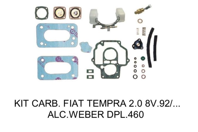 Kit Reparo Carburador Fiat Tempra 2.0 1992 Álcool 460 Weber Duplo