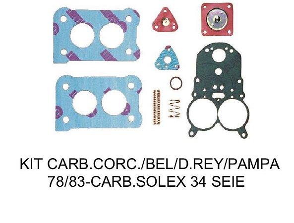 Kit Carburador Solex H34 SEIE Corcel/Pampa/Del Rey/Belina 78/83