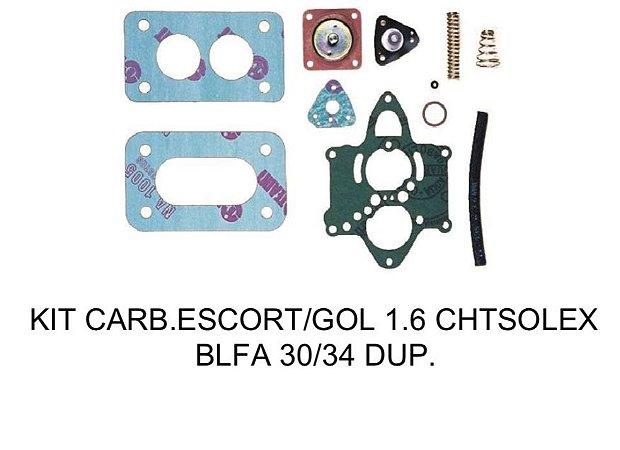 Kit Reparo Escort/Gol 1.6 Carburador BLFA SOLEX 30-34 Duplo