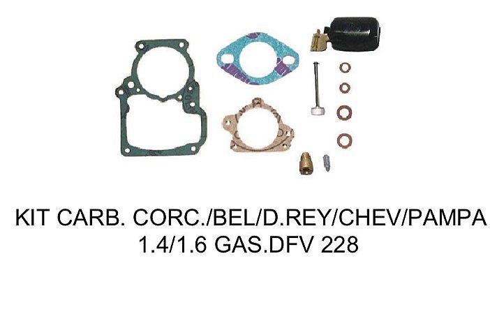 Kit Reparo Carburador DFV 228 Corcel/Belina/Del Rey/Chevette/Pampa 1.4 /1.6 Gasolina