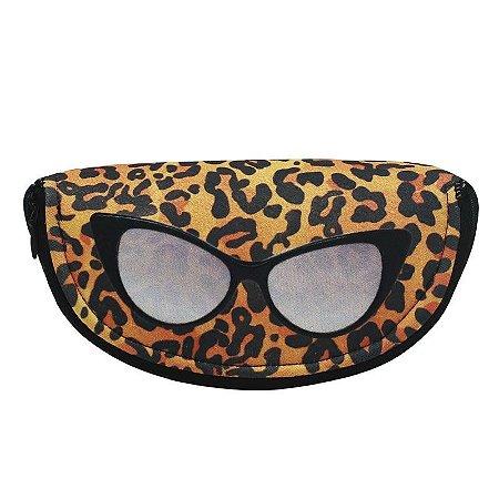 Estojo de óculos oncinha