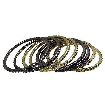 Conjunto pulseiras spike