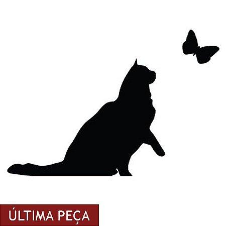 Adesivo Gato e Borboleta