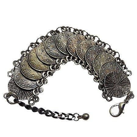 Maxi pulseira Boho moedas