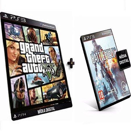 Gta V + Battlefield 4 PS3 Game Digital PSN