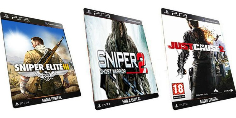Sniper Elite 3 Combo 3 Game PS3 Mídia Digital PSN