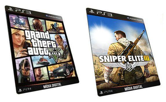 Gta V Sniper Elite 3 Combo 2 Jogos PS3 Mídia Digital PSN