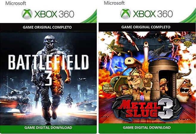 Battlefield 3 + Metal Slug 3 Xbox 360 Game Mídia Digital Xbox Live