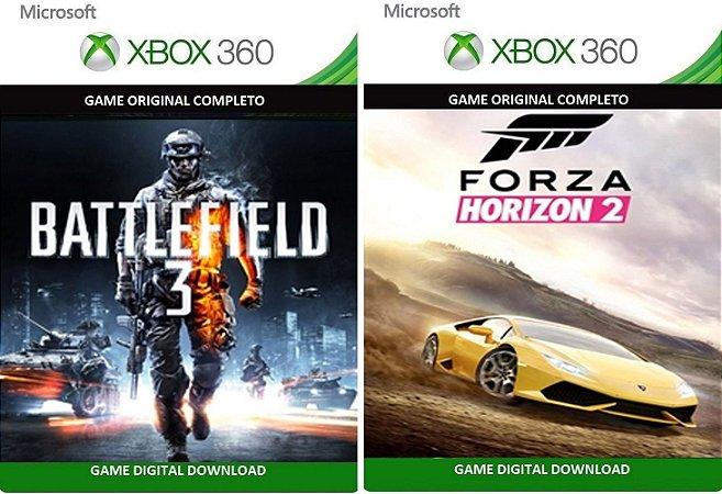 Battlefield 3 + Forza Horizons 2 Xbox 360 Game Mídia Digital Xbox Live