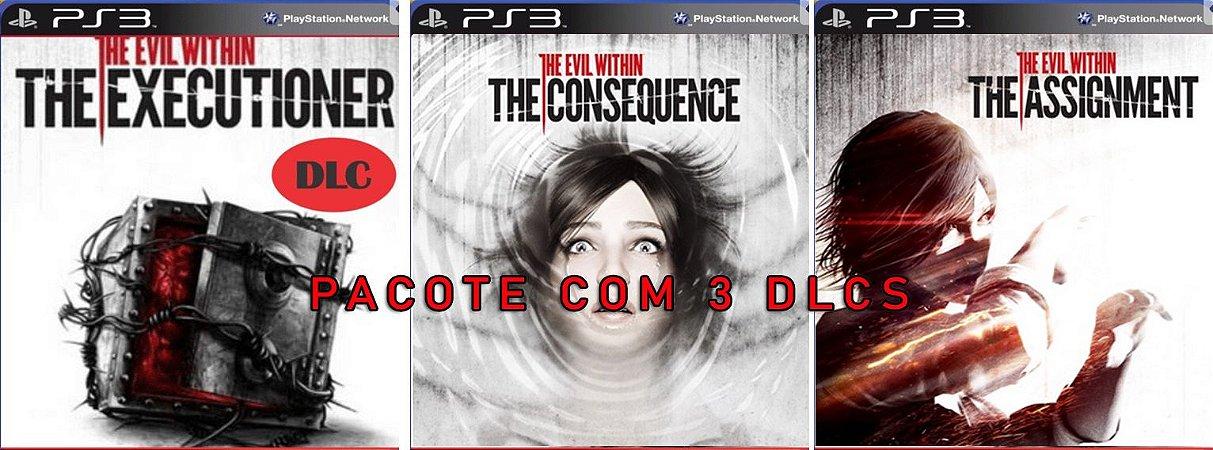 Pacote 3 DLCs para The Evil Within  PS3 Digital PSN Original