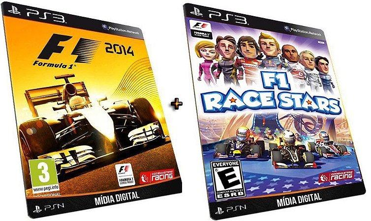 F1 2014 + Race Stars PS3 Game Mídia Digital PSN Original