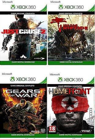 Combo 4 Games Xbox 360 Mídia Digital Jogos Originais Xbox Live