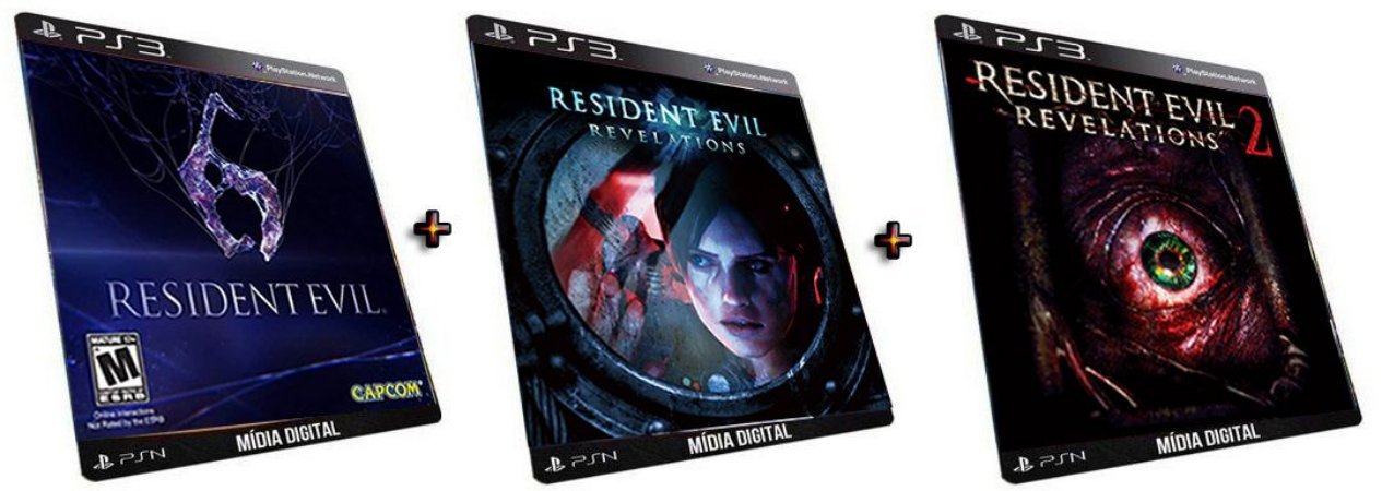 Resident Evil Promo PS3 Combo Game Mídia Digital PSN Original