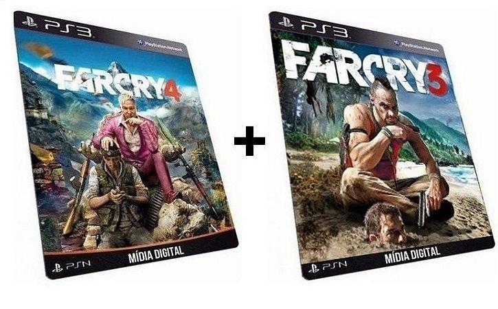 Far Cry 3 + 4 PS3 Game Digital PSN