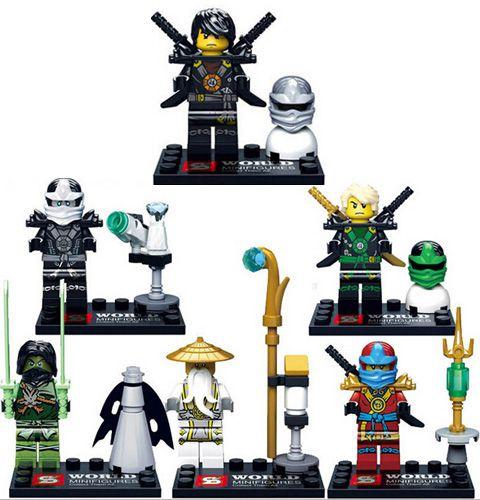 NinjaGo Série de Ações Mini figuras Lego Conjunto Com 6 peças