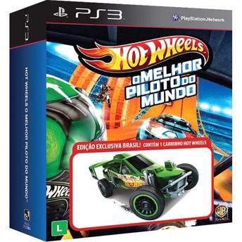 Game Hot Wheels - O Melhor Piloto do Mundo + Carrinho Miniatura - DVD PS3