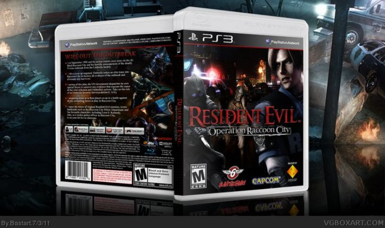 Game Resident Evil - Operation Raccoon City - DVD PS3