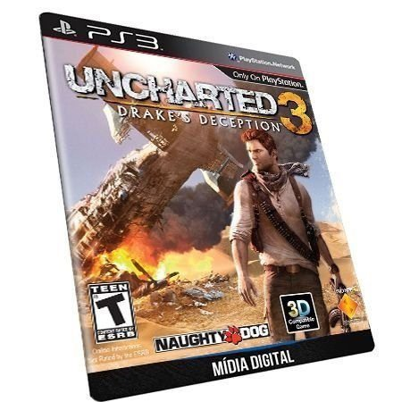 Uncharted 3 Drake's Deception Dublado PS3 Game Digital PSN