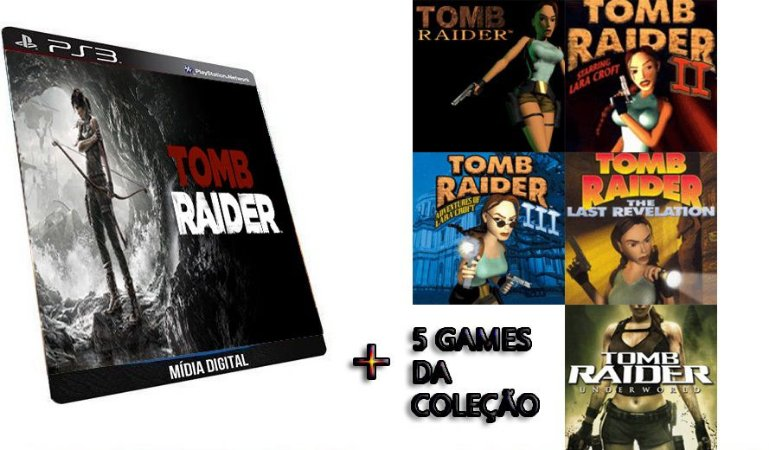 Tomb Raider Collections Combo 6 GAMES DIGITAIS PS3 PSN