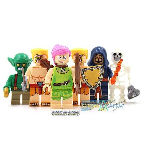 Clash of Clans Série de Ações Mini figuras Lego Conjunto Com 6 peças
