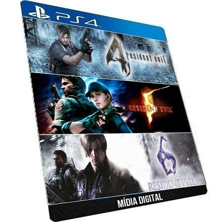 Resident Evil 4 5 6 Jogo Midia Digital Ps4 Psn Playstation Store