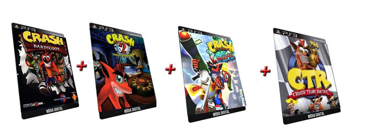 Crash Bandicoot Trilogy 1 2 3 4 Jogo Midia Digital Ps3 Psn