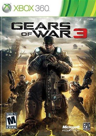 Gears of War 3 Xbox 360 Jogo Digital Original Xbox Live