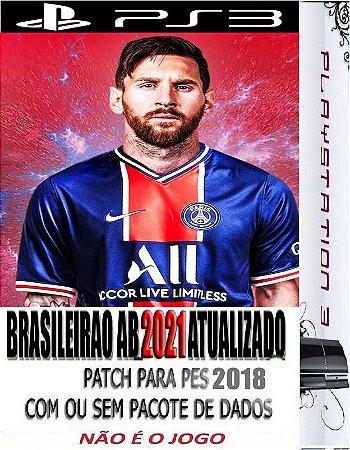 Patch de Atualização eFootball 2021 para Game Pes 2018 PS3