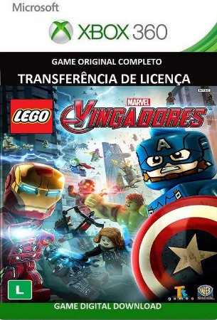 Lego Marvel Vingadores Avengers Xbox 360 Game Mídia Digital