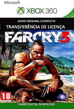 Far Cry 3 Xbox 360 Jogo Digital Original Xbox Live