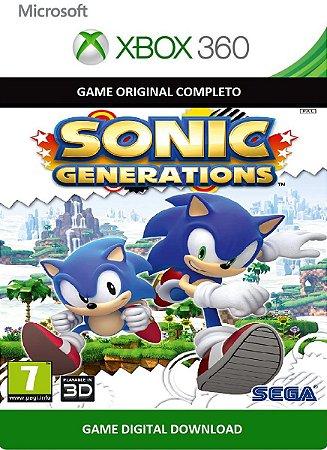 Sonic Generations Xbox 360 Jogo Digital Original