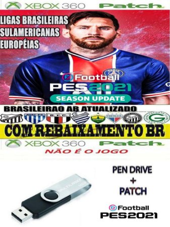 Patch Efootball 2021 para Pes 2018 Xbox 360