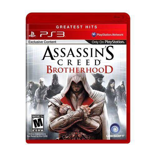 Assassins Creed BrotheHood Jogo PS3 DVD Físico Game Novo