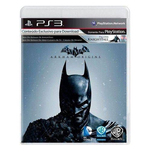 Batman: Arkham Origins Jogo PS3 DVD Físico Game Novo