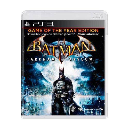 Batman: Arkham Asylum Jogo PS3 DVD Físico Game Novo