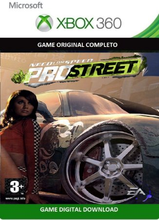 Need For Speed Pro Street Game Xbox 360 Jogo Digital Original Xbox Live