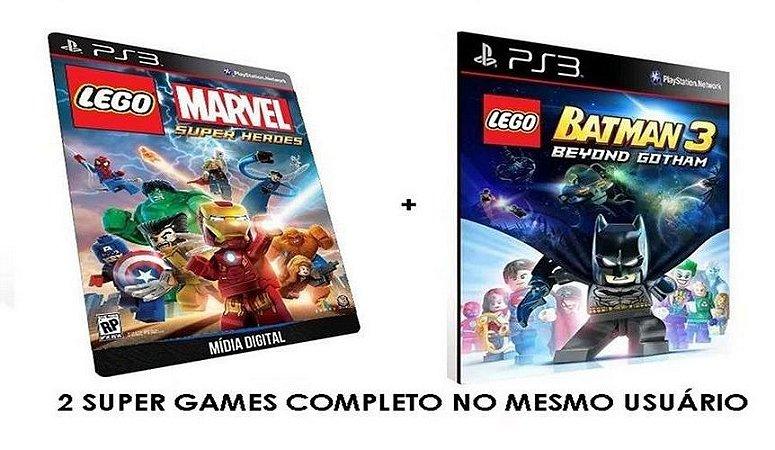 Lego Marvel Super Heroes + Lego Batman 3 - Combo Game Digital PS3 PSN