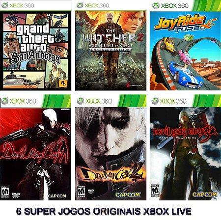 Gta San Andreas + 5 Games Xbox 360 Digitais Originais Xbox Live