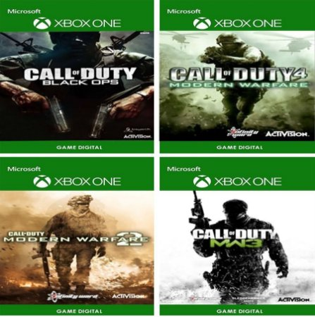 Call of Duty Collection Retrô: 4 Games Digitais Xbox One